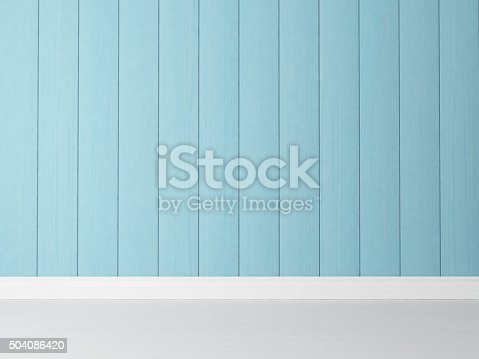 istock vertical blue wooden wall background 504086420