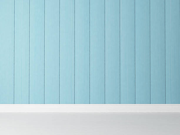 vertical blue wooden wall background stock photo