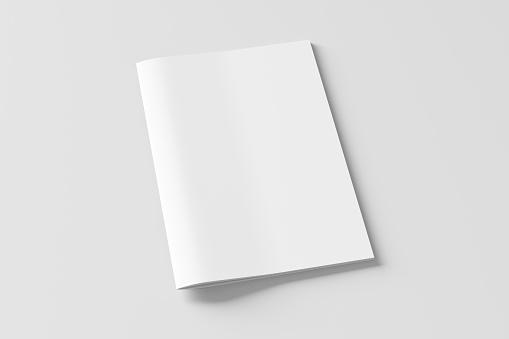 Vertical brochure or booklet  cover mock up.