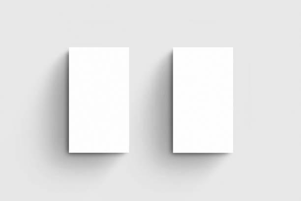 carte de visite verticale maquette modèle - business card mock up photos et images de collection