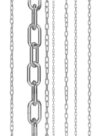 Chrome chain links on a white background.Check out the other images in this series here...