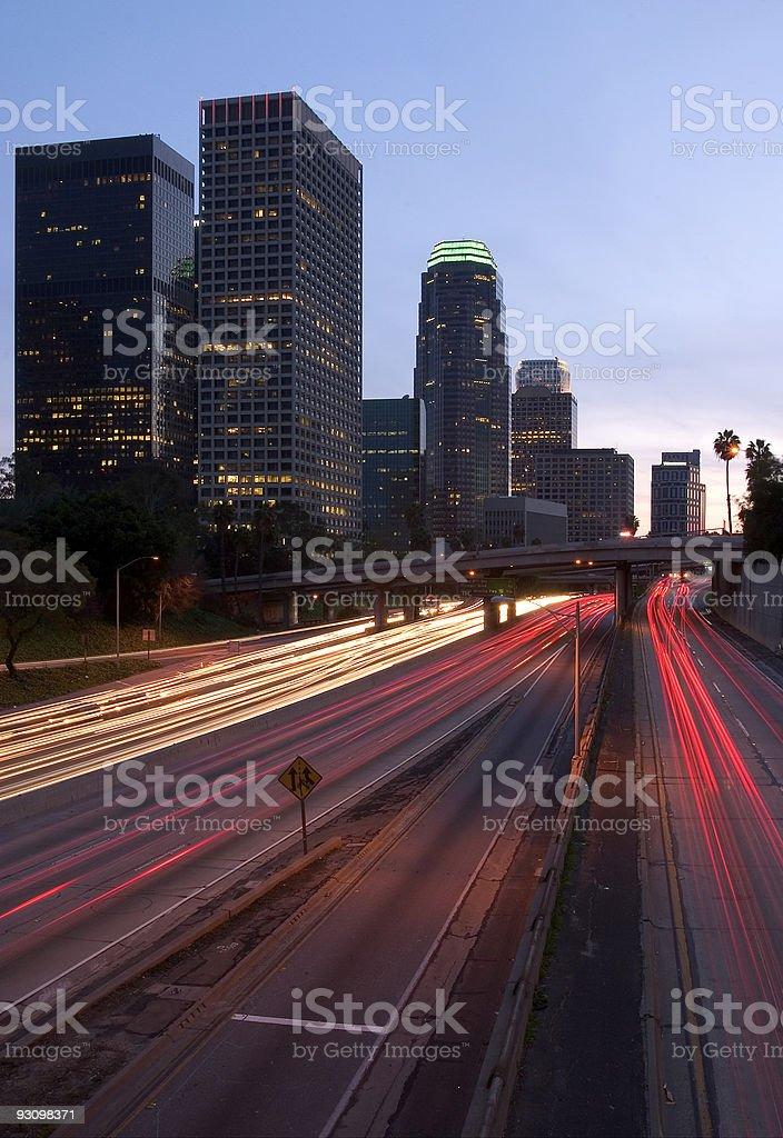 LA Vertical Cityscape royalty-free stock photo