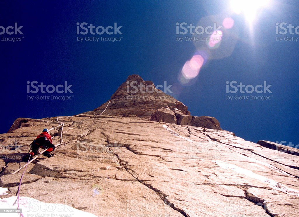 Vertical climbing royalty-free stock photo