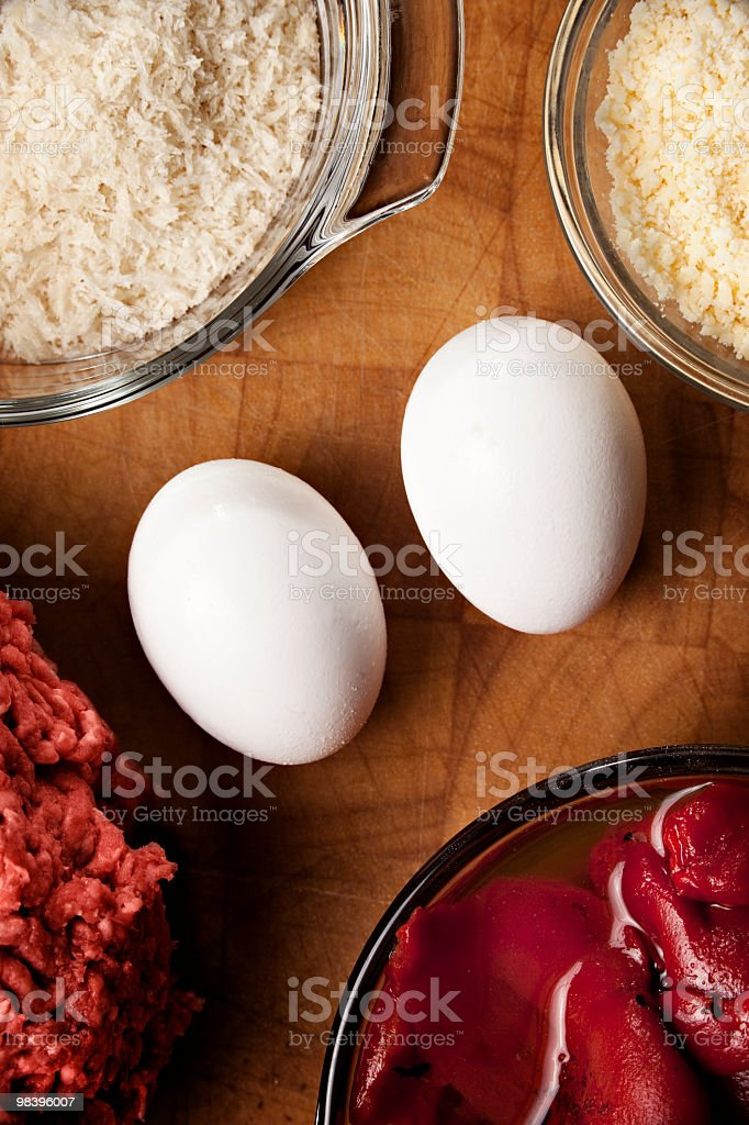 Vertical composition featuring two eggs royalty-free stock photo