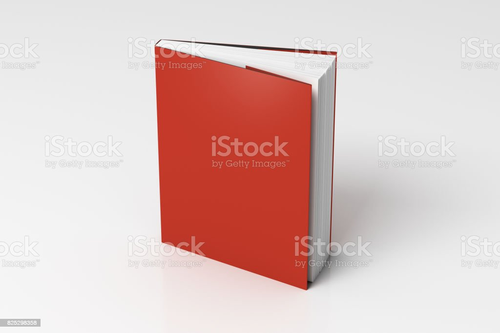 Vertical dust jacket or dust wrapper standing book stock photo