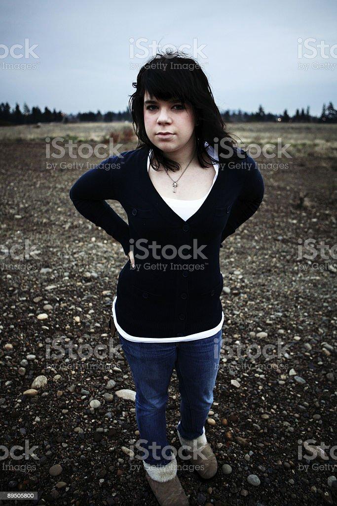 Vertical Female Rural Portrait royalty-free stock photo