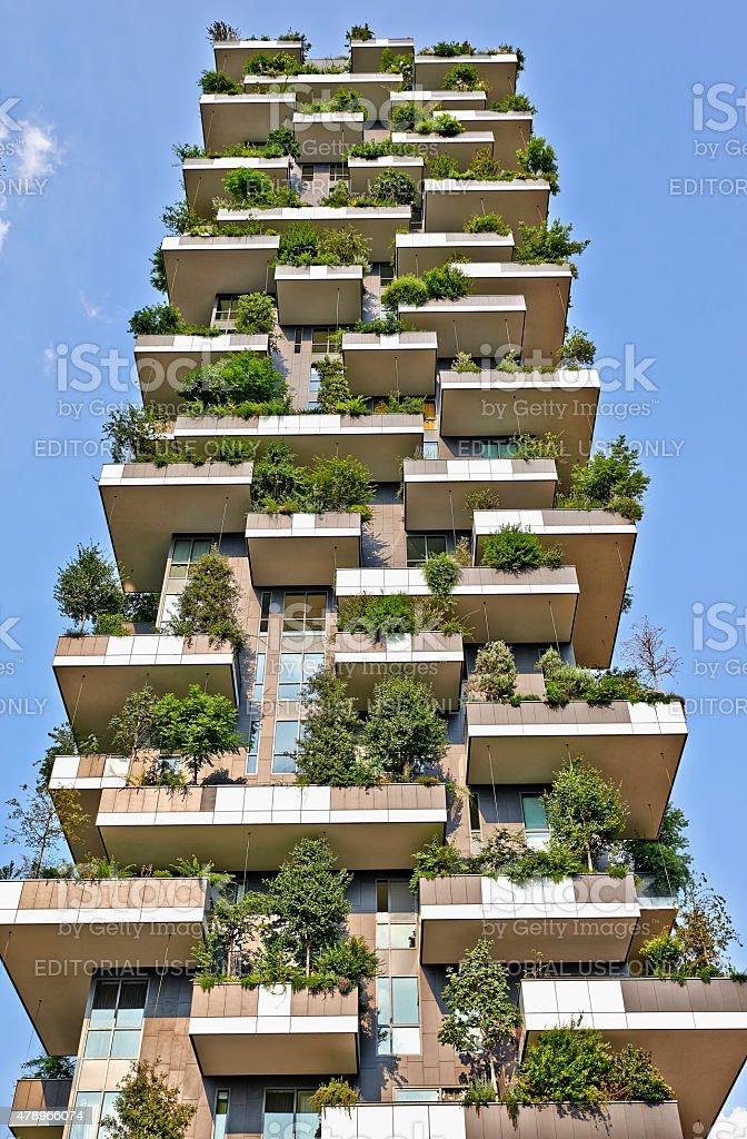 Vertical Forest apartment building in the Porta Nuova, Milano stock photo