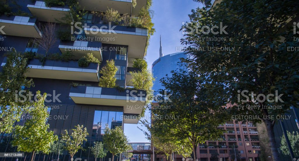 Vertical Forest, Milan, Porta Nuova skyscraper residences, Italy - foto stock