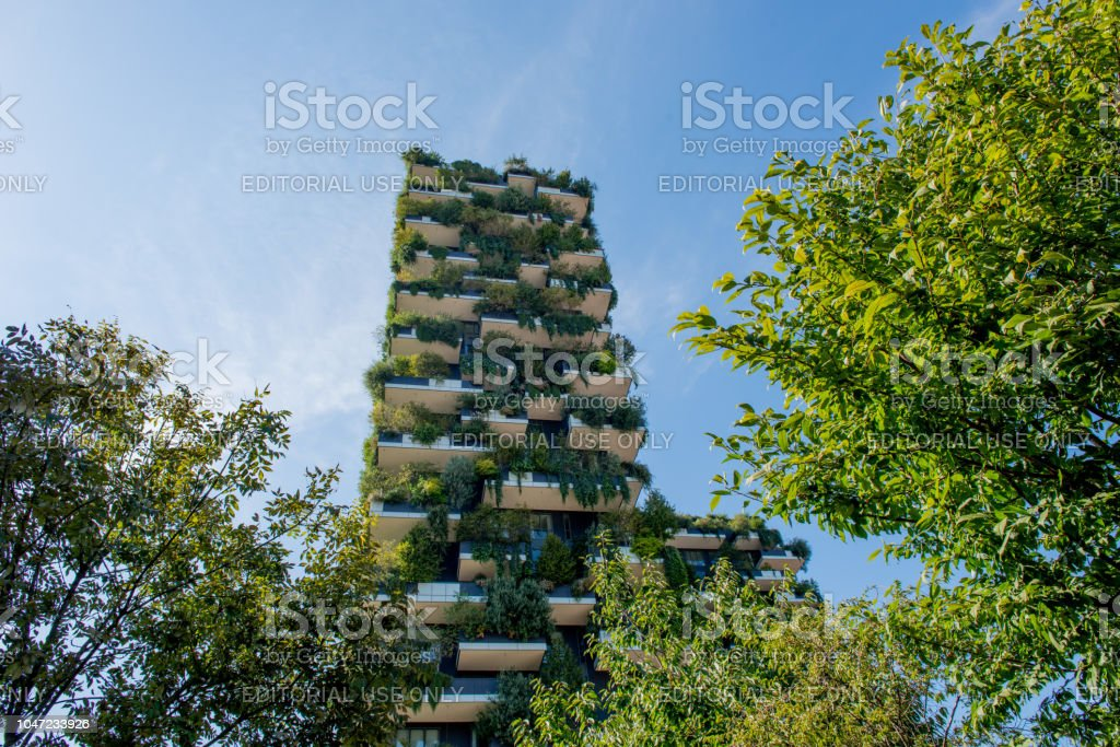 vertical forest - foto stock