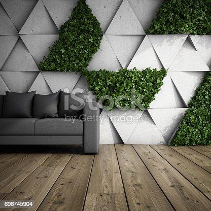 istock Vertical garden in modern interior 696745904