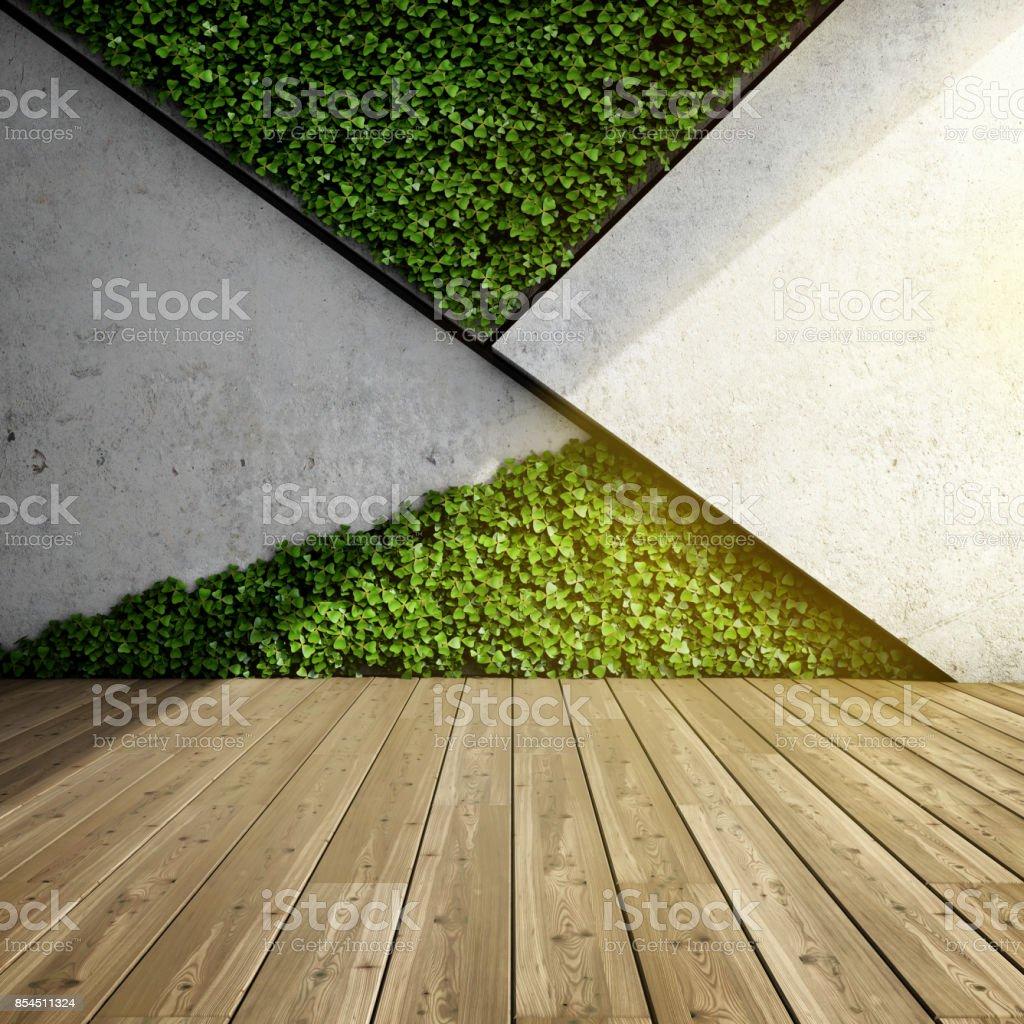 Vertical garden in modern interior stock photo