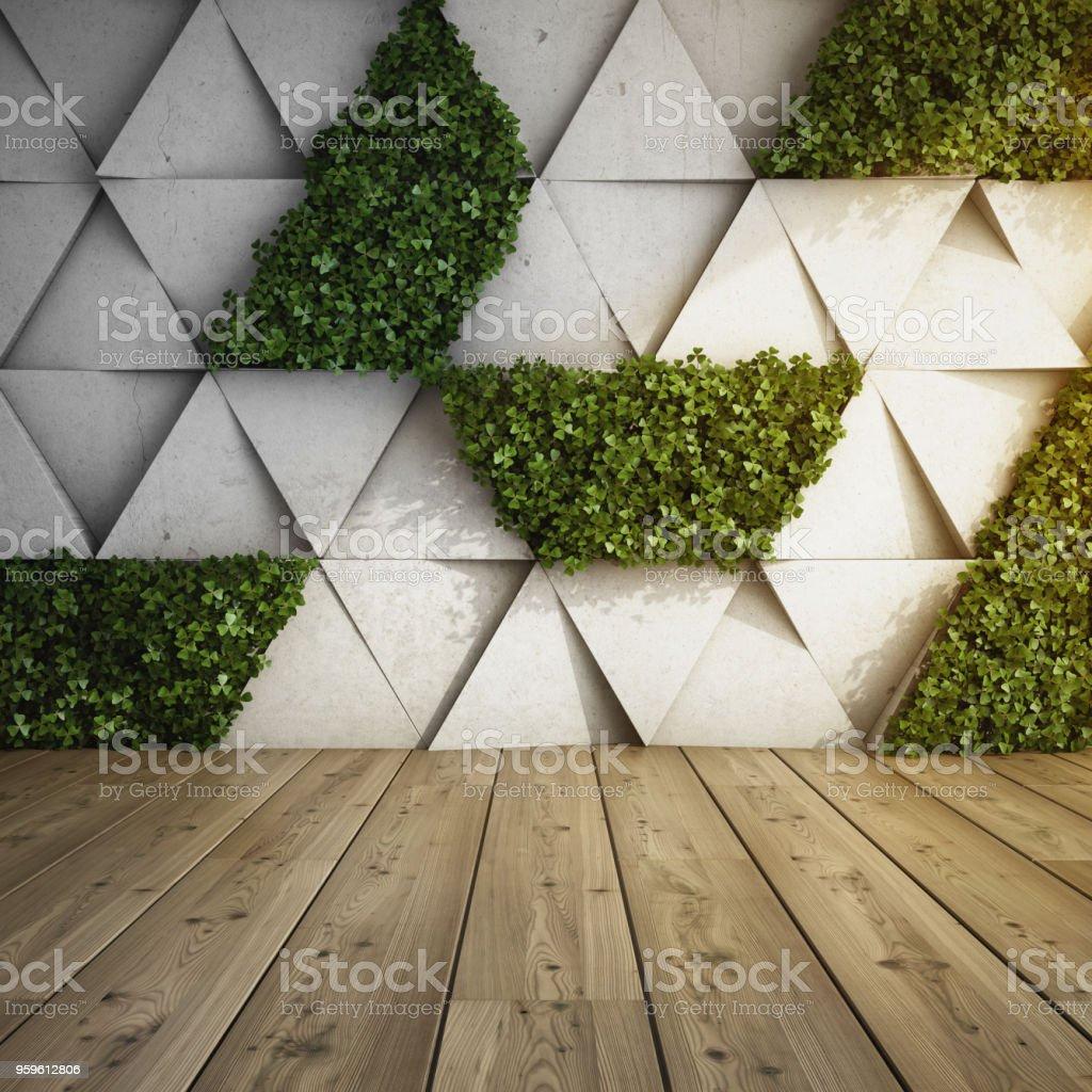 Jardín vertical de interior moderno - Foto de stock de Abstracto libre de derechos