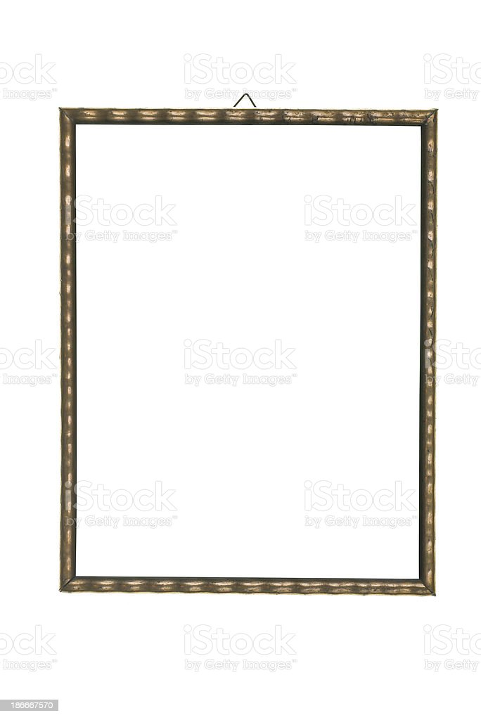 vertical golden wave pattern picture frame royalty-free stock photo