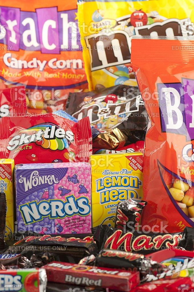 Vertical image large group of candy stock photo
