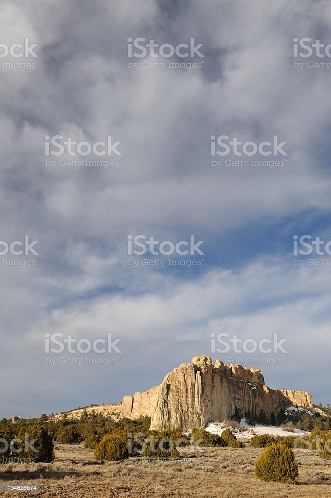 Vertical Landcape of El Morro Cliffs stock photo