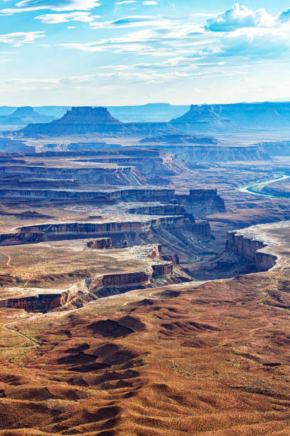 Vertical Landscape at Canyonlands National Park in Utah, USA stock photo