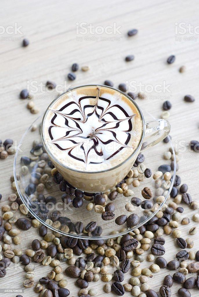 vertical latte art royalty-free stock photo