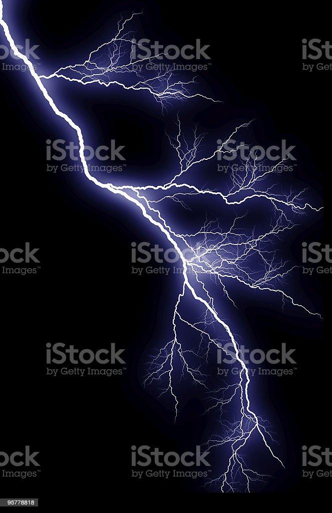 Vertical Lightning Strike stock photo