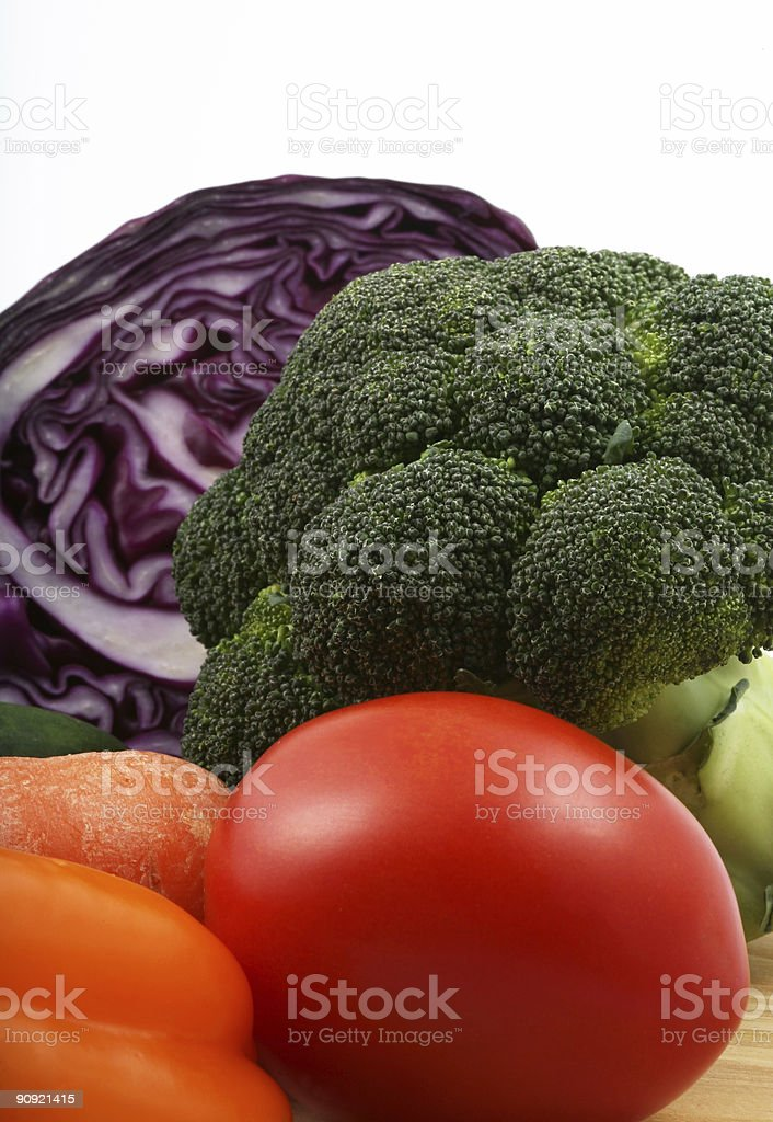 Vertical mixed vegetables royalty-free stock photo