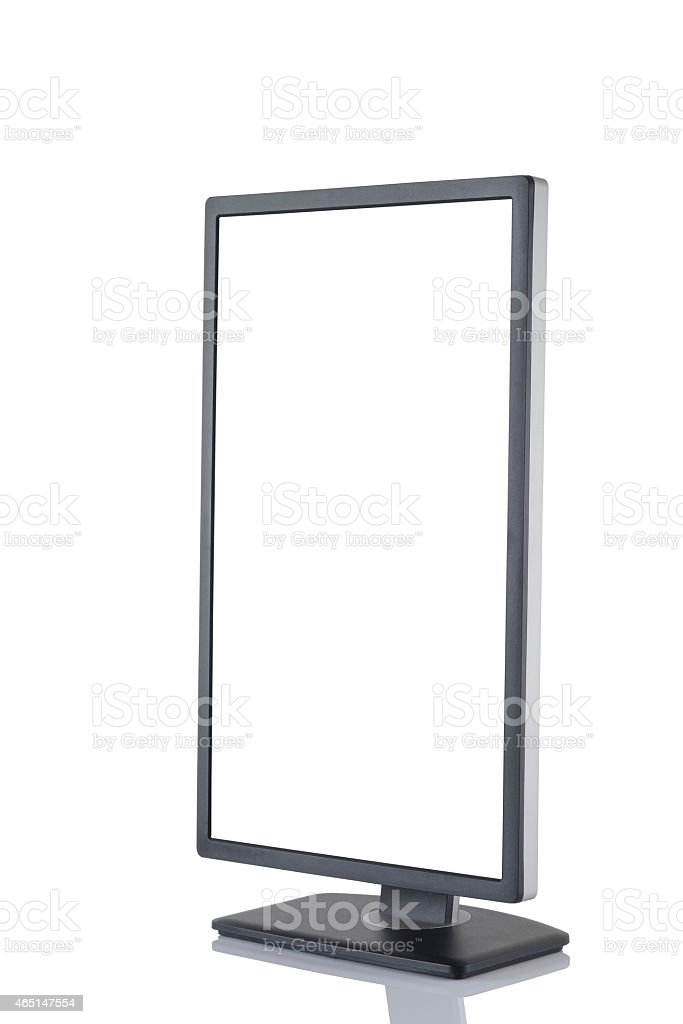 HD Vertical Monitor. stock photo