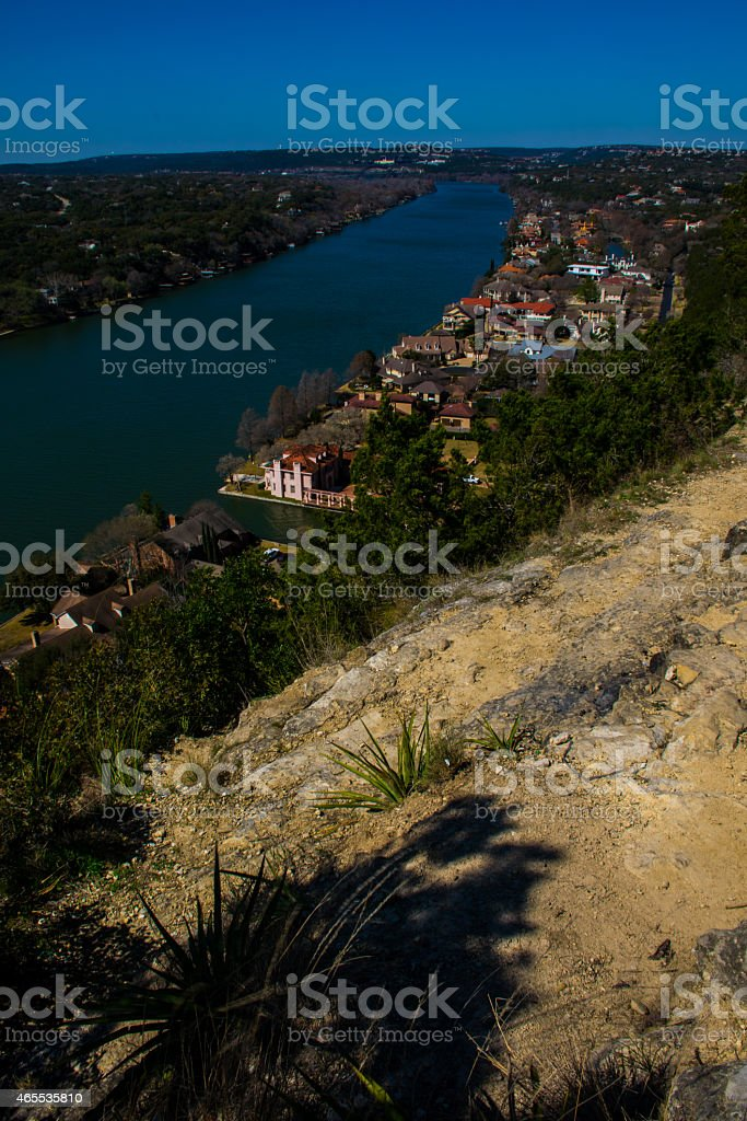 Vertical Mount Bonnell Best Houses in Austin stock photo