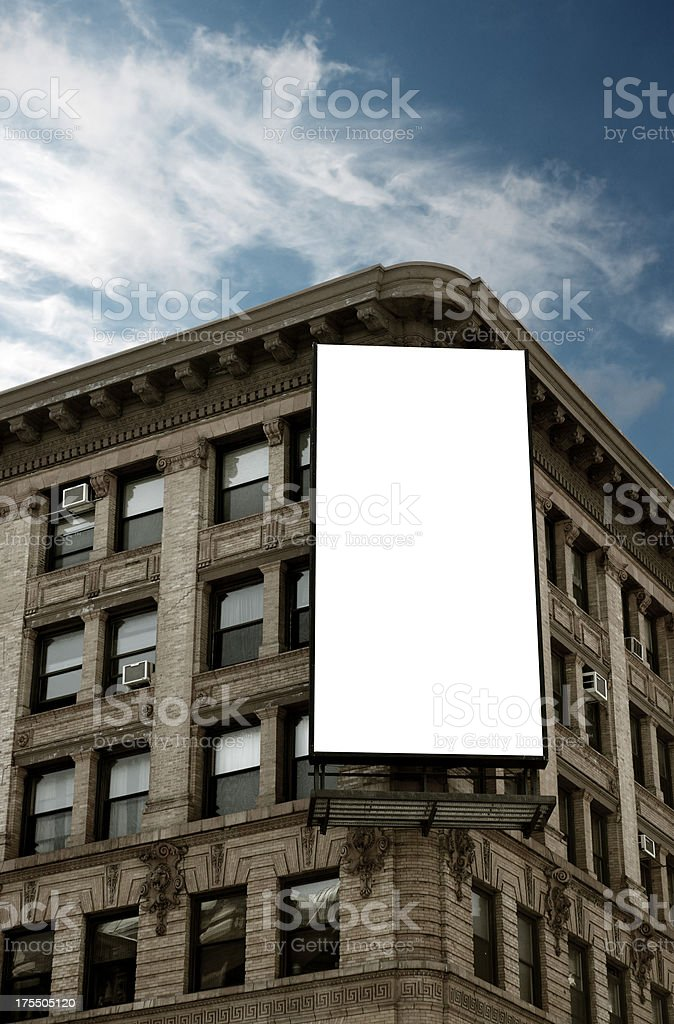 Vertical NYC Billboard stock photo