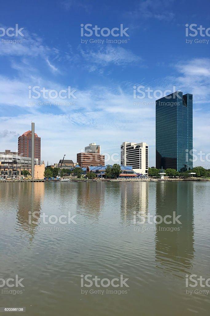 Vertical of the Toledo skyline stock photo