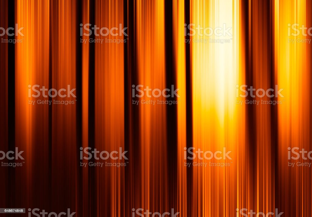 Vertical orange motion blur curtains with glow background stock photo