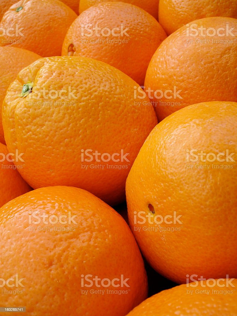 Vertical oranges royalty-free stock photo