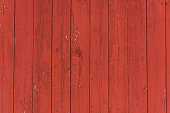 Vertical oxblood red barn door boards and planks background.  Barnboard planks, running vertically.