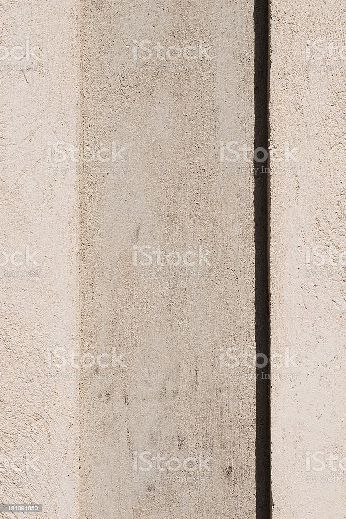 Vertical plaster on wall stock photo