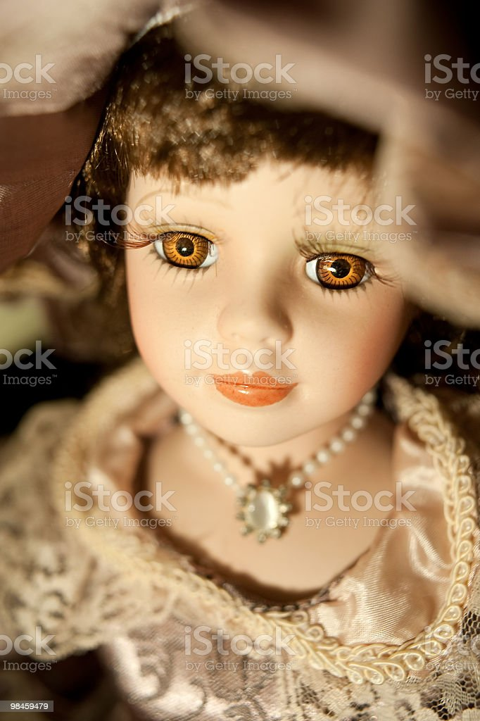 Vertical Portrait Of A Pottery Doll royalty-free stock photo