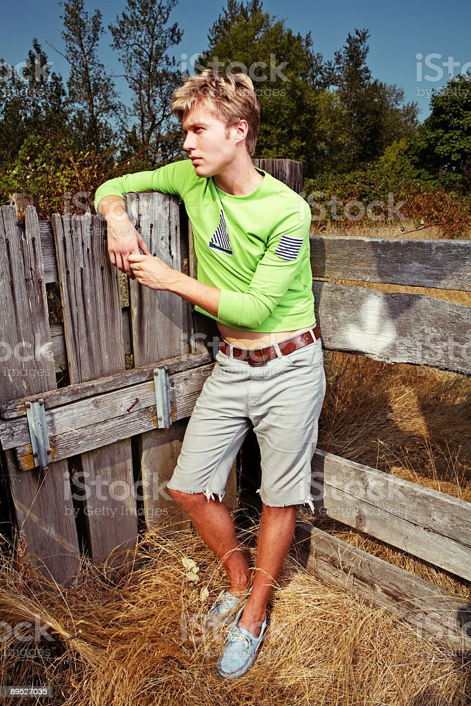 Vertical Portrait of Blonde Male royalty-free stock photo