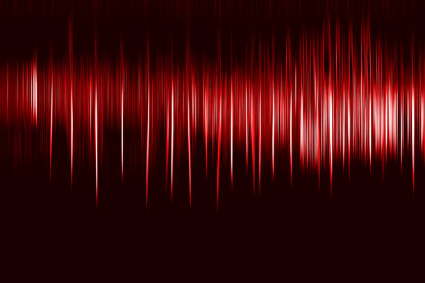 Vertical red motion blur osc background stock photo