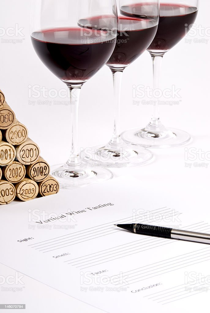Vertical Red Wine Tasting royalty-free stock photo