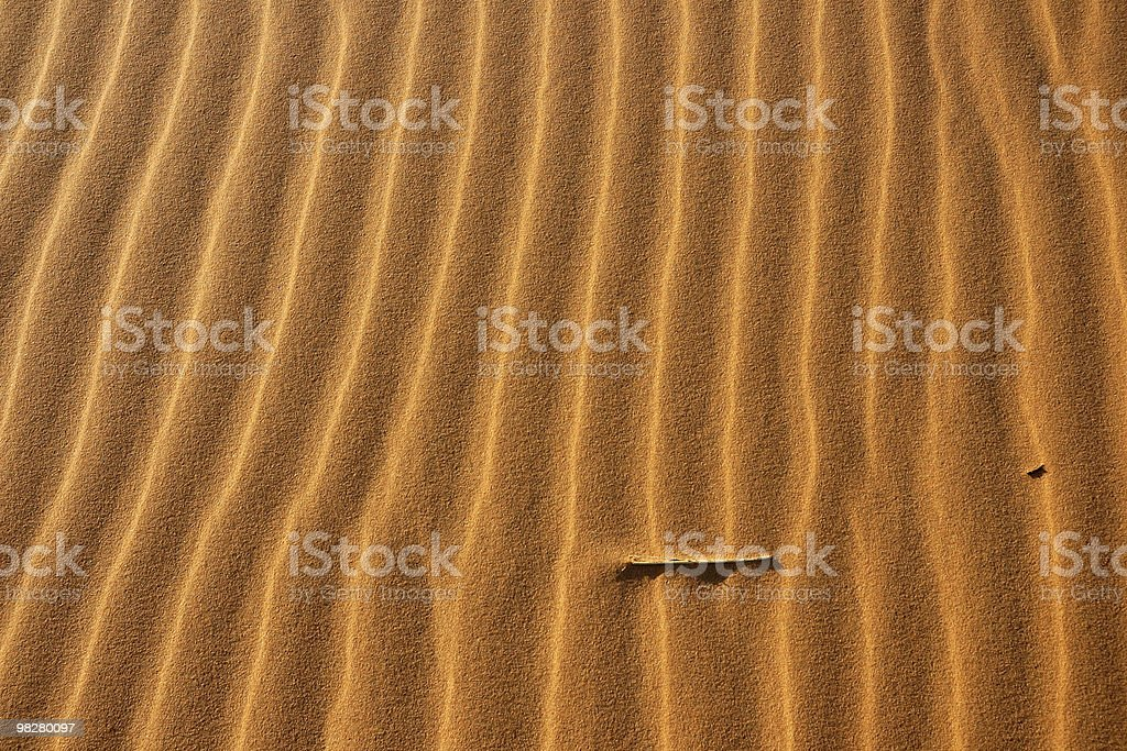 Vertical ripples pattern in the sand royalty-free stock photo