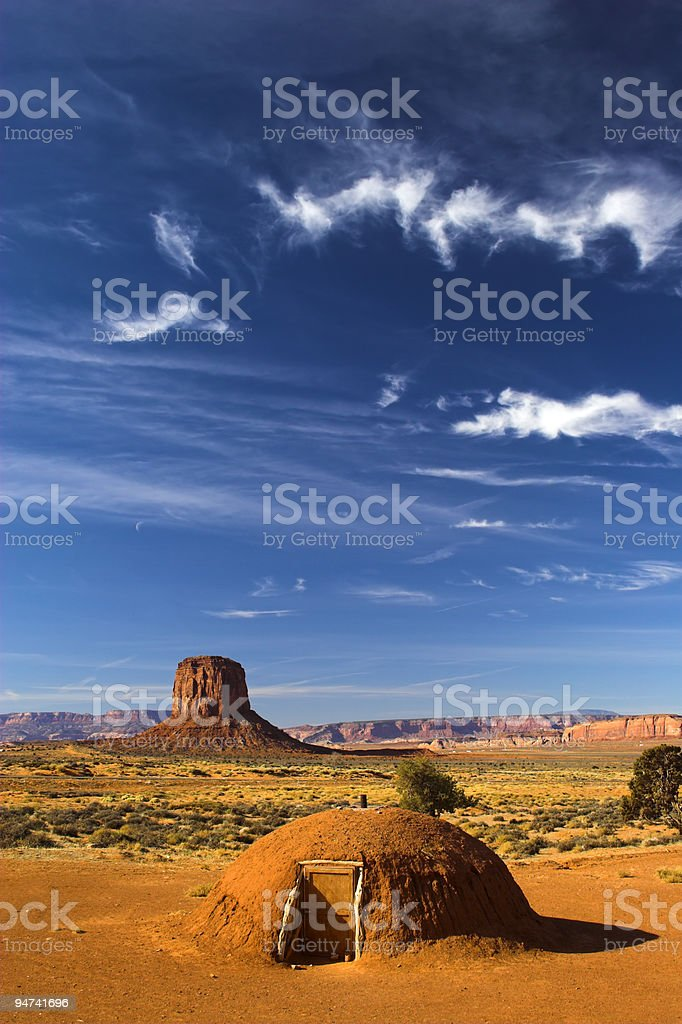 Vertical round hogan royalty-free stock photo