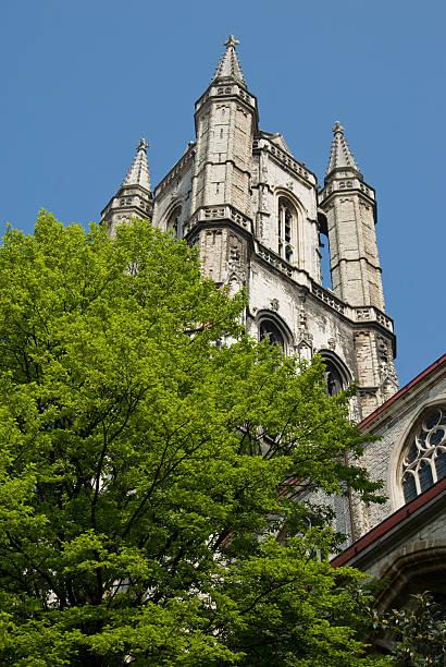 Vertikale Aufnahme von Saint bede Kathedrale, Gent, Belgien – Foto