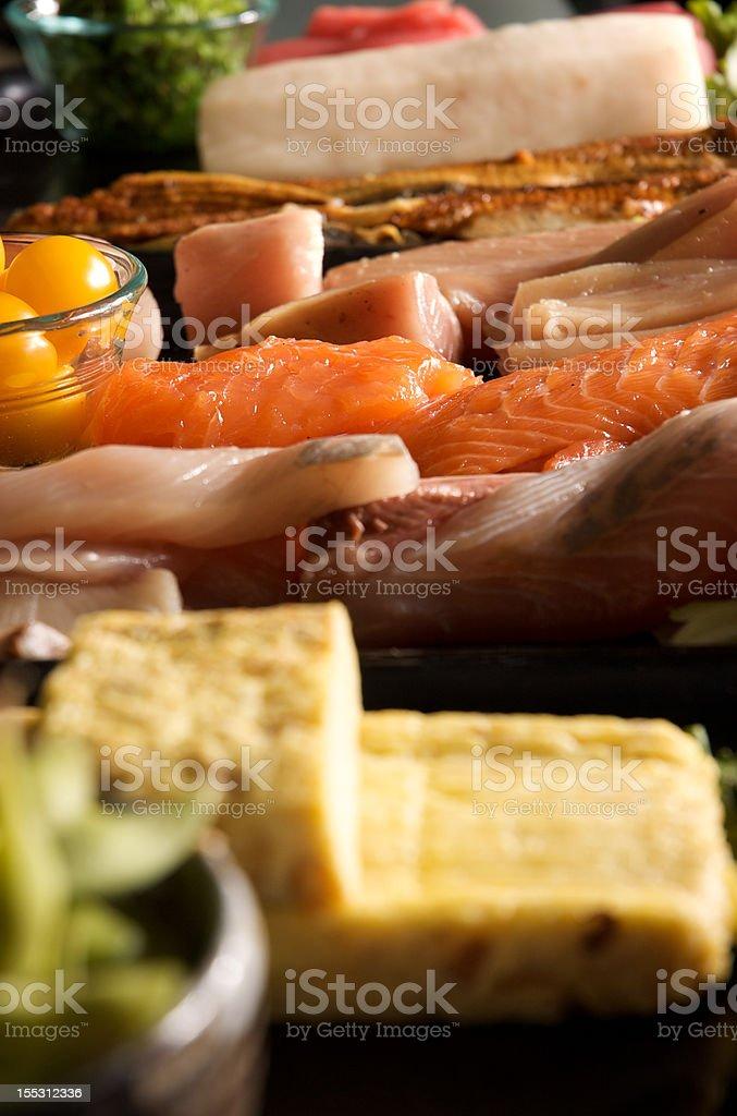 vertical sushi bar royalty-free stock photo