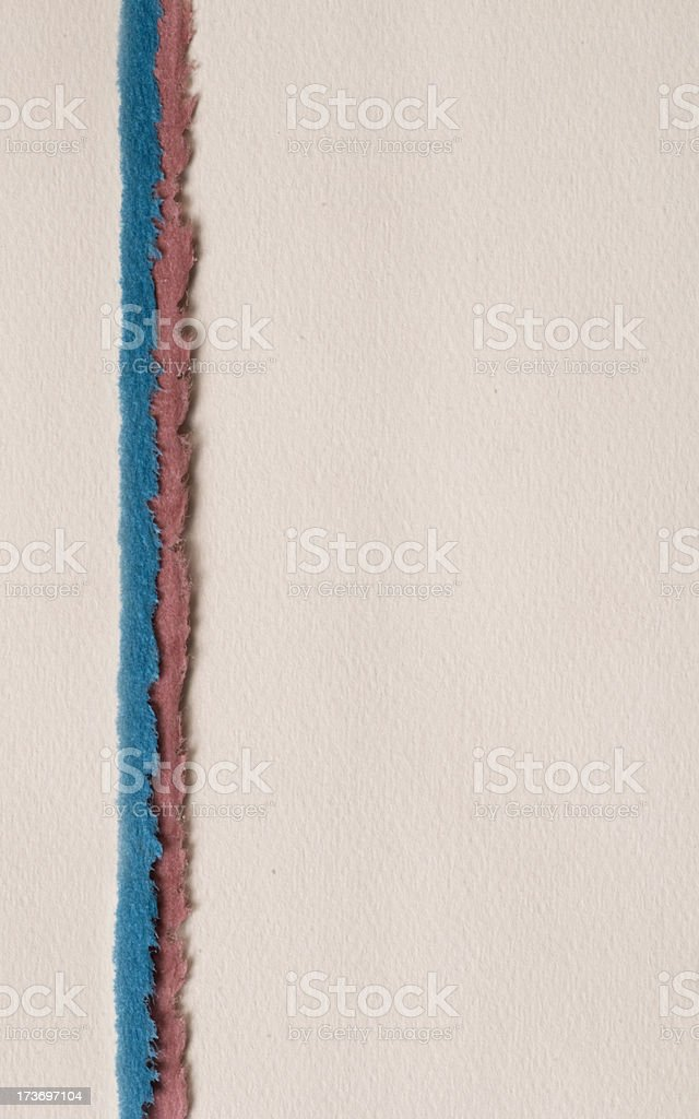 Vertical torn paper royalty-free stock photo