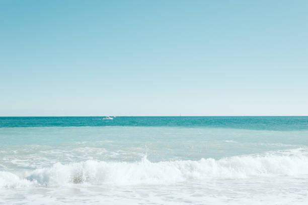 Vertical Turquoise mediterranean sea background stock photo