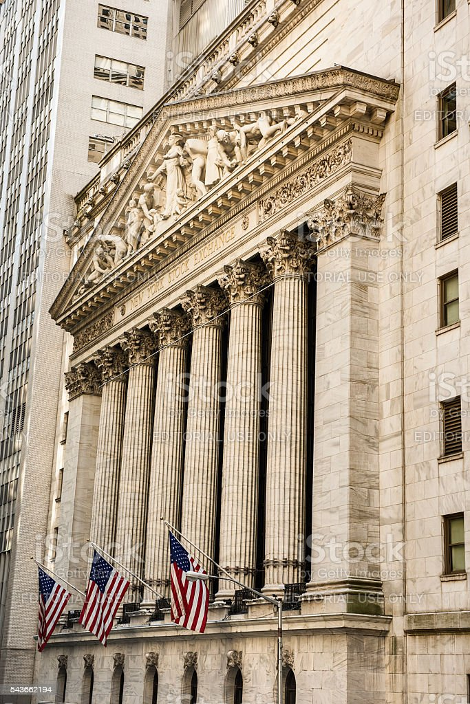 Vertical View Of The New York Stock Exchange Stock Photo More