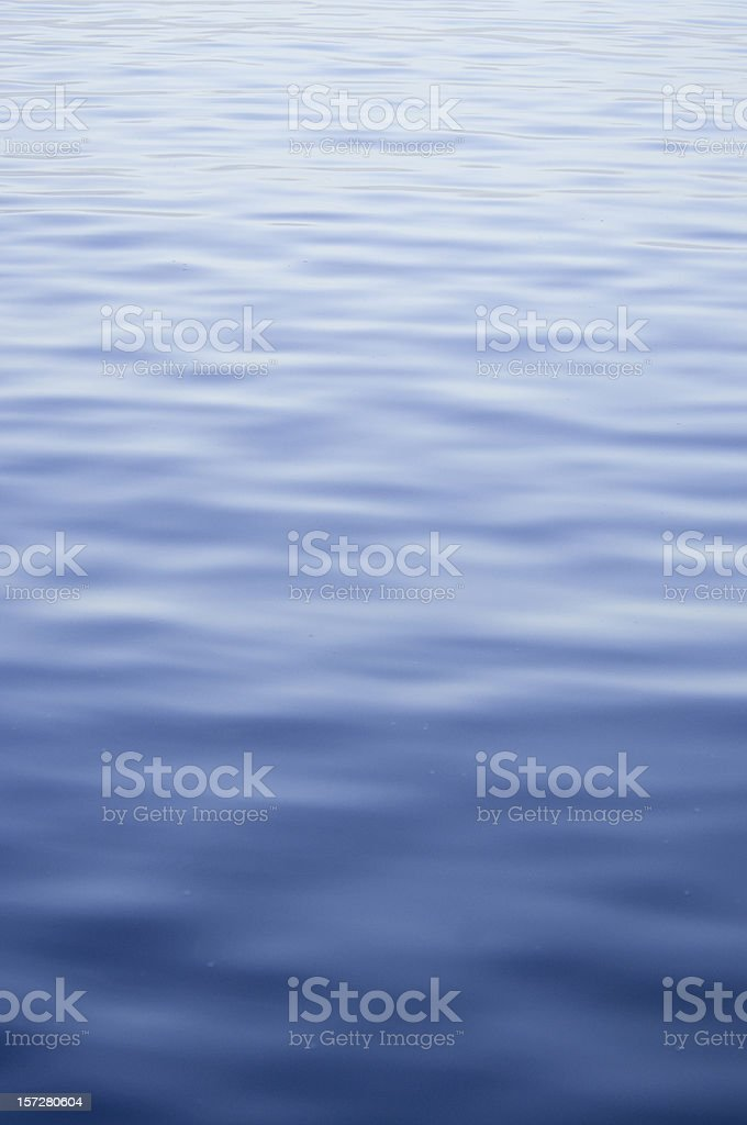 Vertical view of the open sea in various blue tones royalty-free stock photo