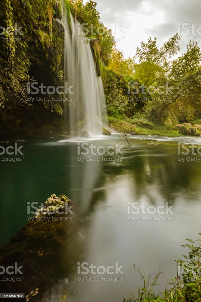 Vertical Waterfall royalty-free stock photo