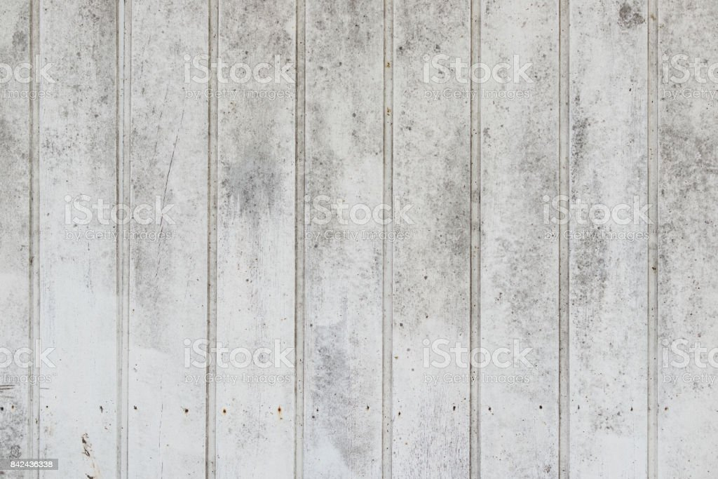 Vertical weathered white painted timber stock photo