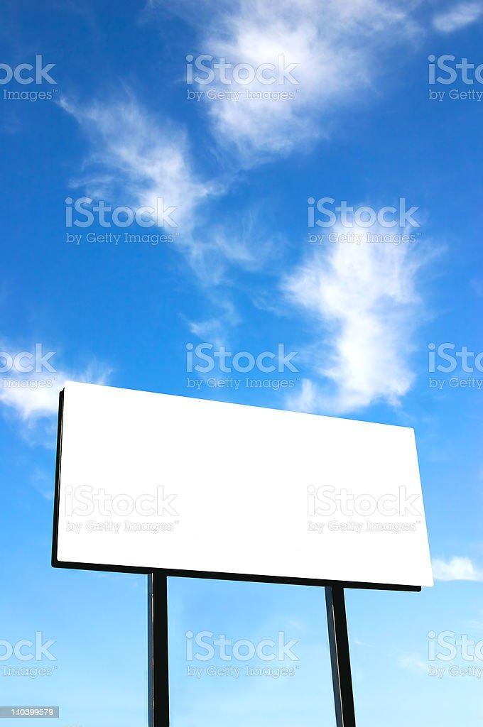Vertical white billboard royalty-free stock photo