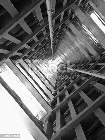 Interior architecture of a building.