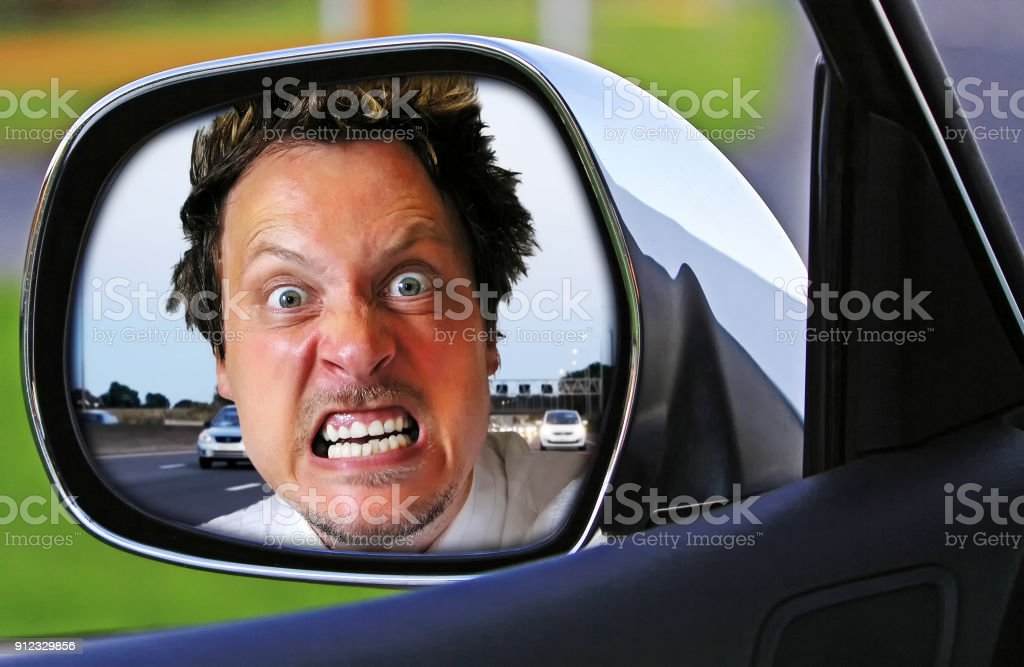Very angry driver stock photo