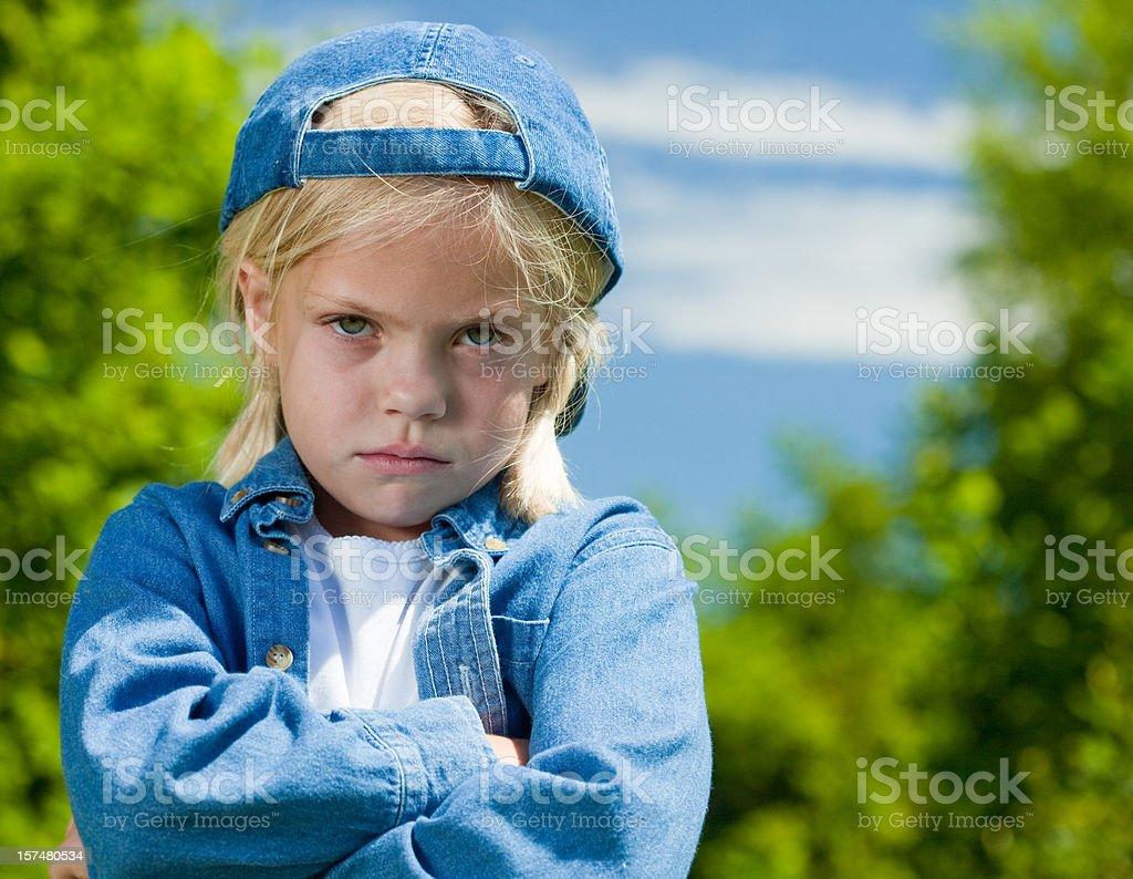 Very Angry Tomboy stock photo