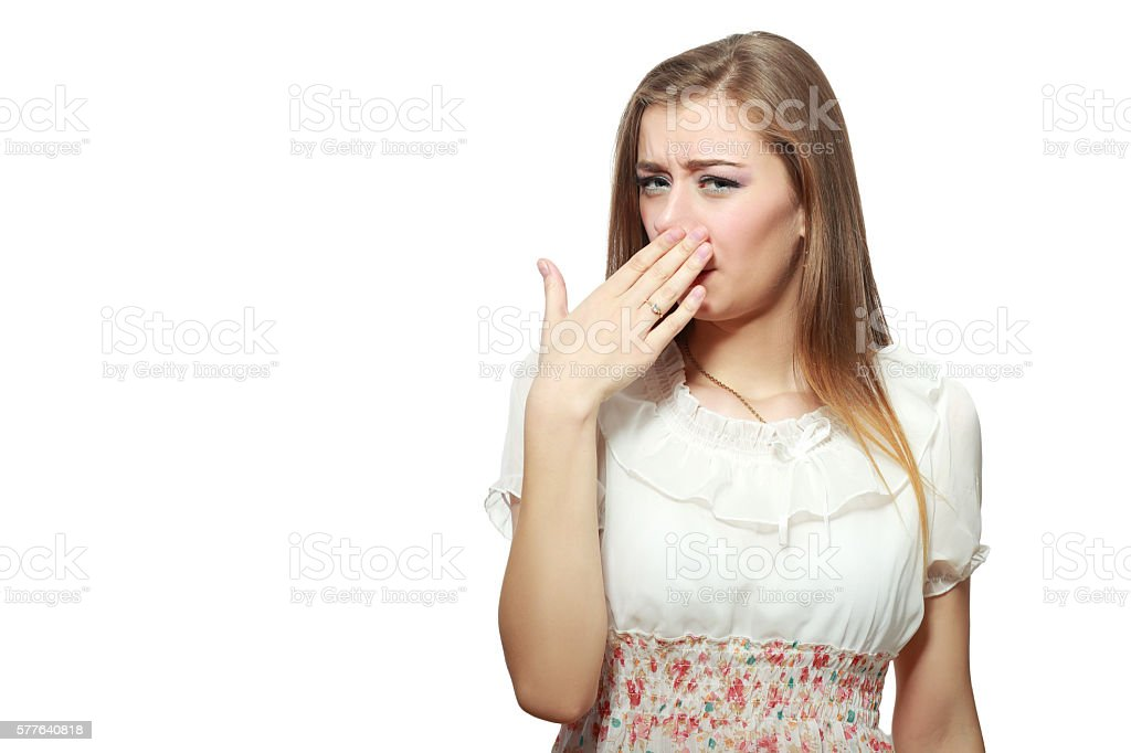 very bad smell stock photo